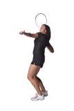 Pretty female tennis player royalty free stock photos