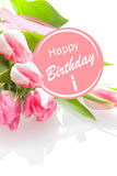 Pretty feminine Happy Birthday greeting Royalty Free Stock Photo