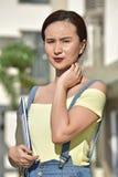 Pretty Filipina School Girl Portrait stock image