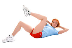 Pretty fitness girl Stock Image