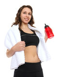 Pretty Fitness Woman Royalty Free Stock Photography