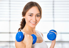 Pretty fitness woman Stock Photos