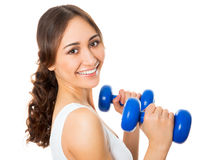 Pretty fitness woman Royalty Free Stock Images
