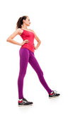 Pretty fitness woman long legs Stock Image