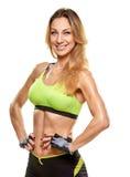 Pretty fitness woman portrait Stock Photos