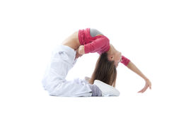 Pretty flexible dancer woman stretching Royalty Free Stock Image