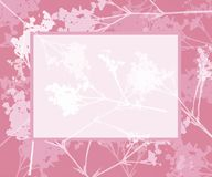 Pretty floral frame. With copy space royalty free illustration