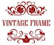 Pretty floral Vintage Frame Stock Image