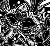 Pretty floral wallpaper royalty free illustration