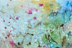 Pretty Floral Watercolor Abstract 8 Stock Images