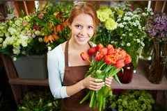 Pretty florist Royalty Free Stock Photography
