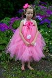 Pretty flower girl. Pretty girl dressed as fairies in the garden Stock Photos