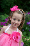 Pretty flower girl. Royalty Free Stock Photo