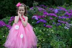 Pretty flower girl. Royalty Free Stock Images
