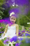 Pretty flower girl. stock photography