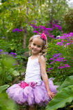 Pretty flower girl. Stock Image
