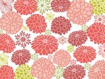 Pretty flower wallpaper vector illustration