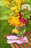 Pretty Flowers Freshly Cut from Garden Royalty Free Stock Image