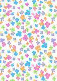 Pretty flowers pattern. Vector illustration of small flowers in a repeat pattern Royalty Free Stock Image