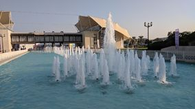 The fountains at Khalifa Park in Abu Dhabi stock images