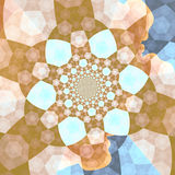 Pretty Fractal Gift Paper Stock Photos
