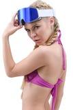 Pretty freeride girl Stock Image