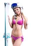 Pretty freeride girl Stock Photo