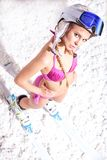 Pretty freeride girl Royalty Free Stock Photography