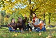 Pretty friendly family Stock Image
