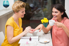 Pretty friends having a coffee Royalty Free Stock Images