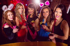 Pretty friends on a hen night Royalty Free Stock Images