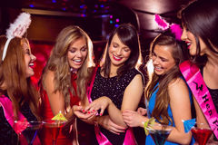 Pretty friends on a hen night Royalty Free Stock Photos