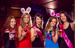 Pretty friends on a hen night Stock Photography