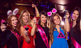 Pretty friends on a hen night Royalty Free Stock Image