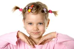 Pretty fun child look in to ca Stock Photography
