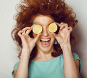 Pretty funny girl with art make up Stock Photo