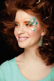 Pretty funny girl with art make up Stock Image