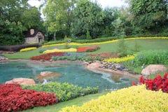 Pretty garden  design in the park Stock Photography