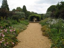 Pretty garden path Royalty Free Stock Images