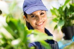 Pretty garden worker Stock Images