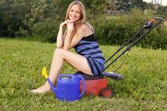 Pretty gardener Stock Images