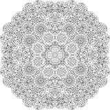 Pretty geometric floral designs on white Royalty Free Stock Photos