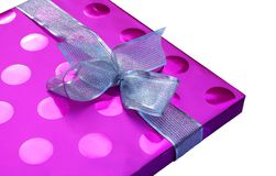 Pretty gift box isolated Royalty Free Stock Images