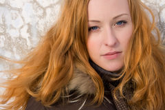 Pretty ginger woman Royalty Free Stock Images