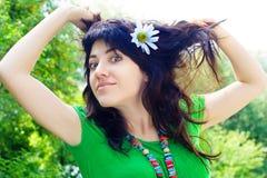 The pretty girl Stock Photos