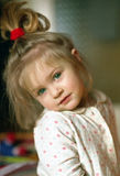 Pretty girl. A little girl portrait royalty free stock image