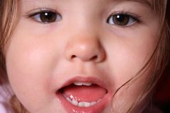 Pretty Girl. Extreme Closeup of a Beautiful toddler stock photos