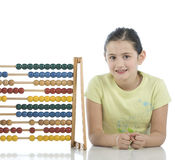 Pretty girl with abacus Royalty Free Stock Image