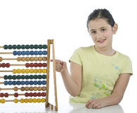 Pretty girl with abacus Stock Photo