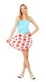 Pretty girl in apron royalty free stock photos